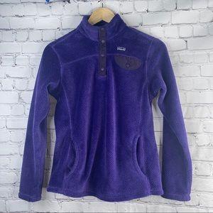 PATAGONIA Youth Retool Purple Quarter Snap XL